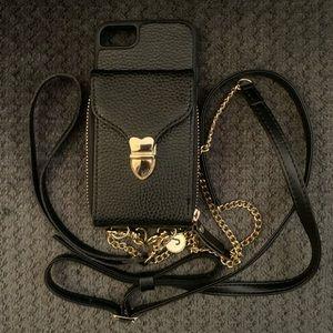 JLFCH iPhone 7/8 Lanyard Crossbody Wallet Case GU